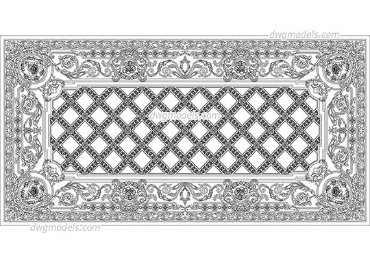 Art deco dwg, cad file download free