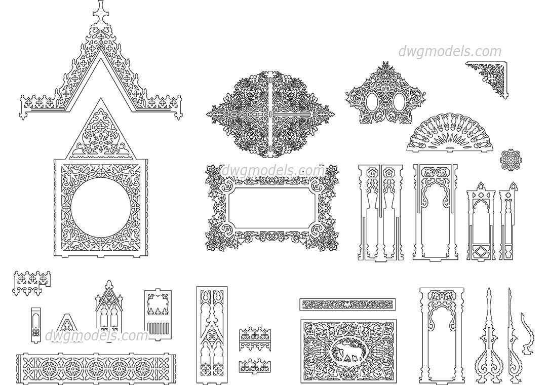 Decorative Pattern Dwg