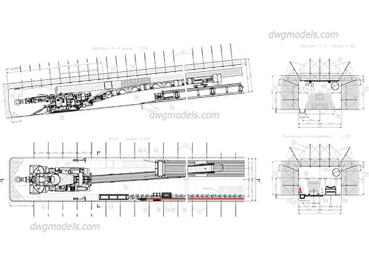 Roadheader free dwg model