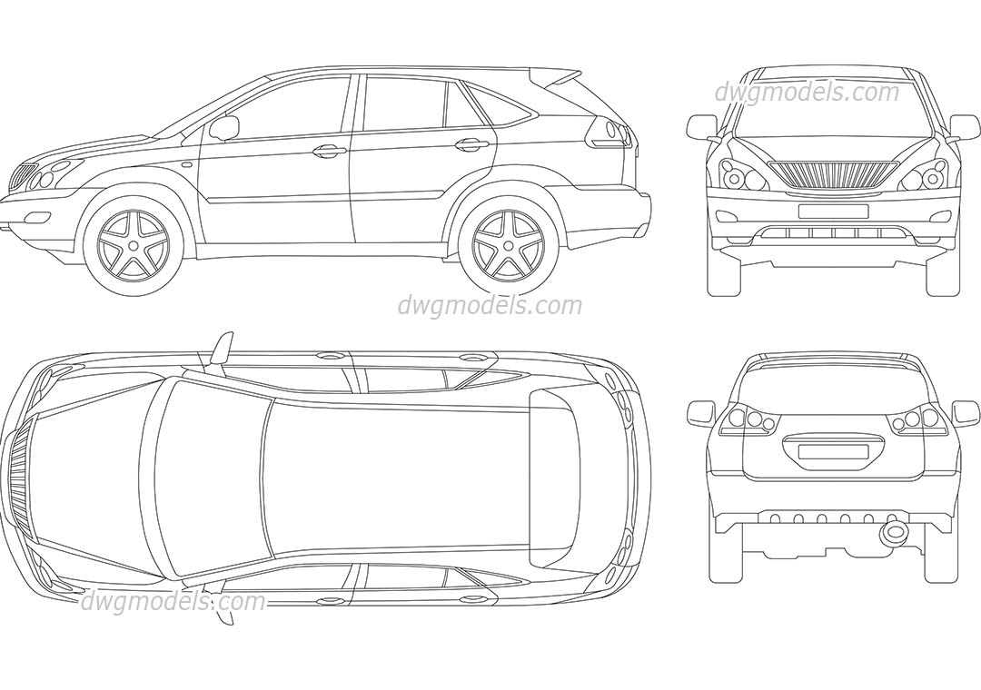 Lexus rx 300 dwg free cad blocks download for Online cad drawing