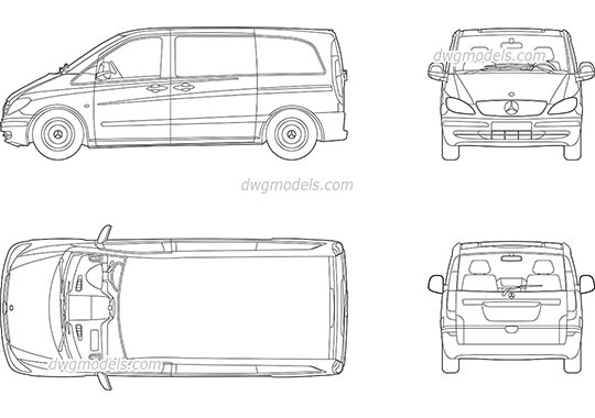 Mercedes Vito - DWG, CAD Block, drawing