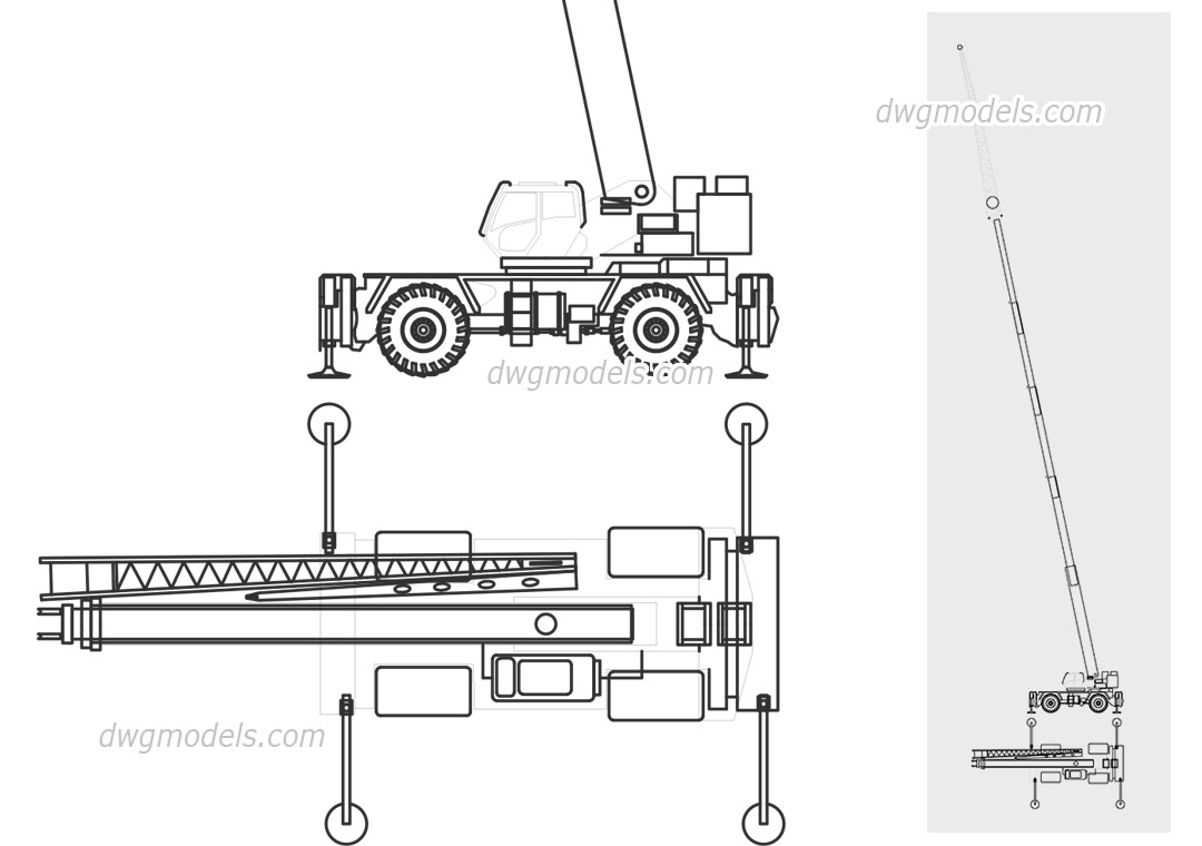 Grove RT9130E-2 dwg, CAD Blocks, free download.