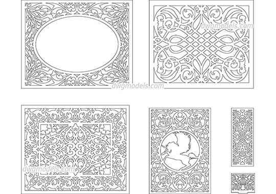 Decorative pattern 4 dwg, cad file download free.