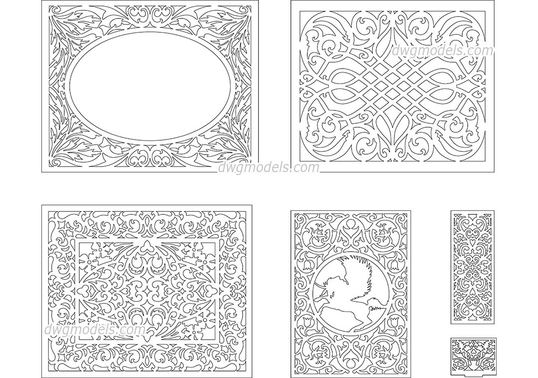 Decorative Pattern 4 Dwg Free Cad Blocks Download