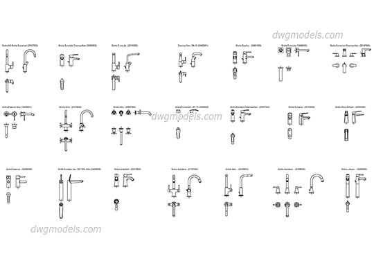 Grohe single lever basin mixer dwg, cad file download free.