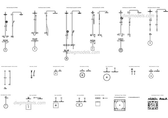 Grohe showers dwg, cad file download free.