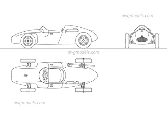 Cooper Climax T-43 dwg, cad file download free.