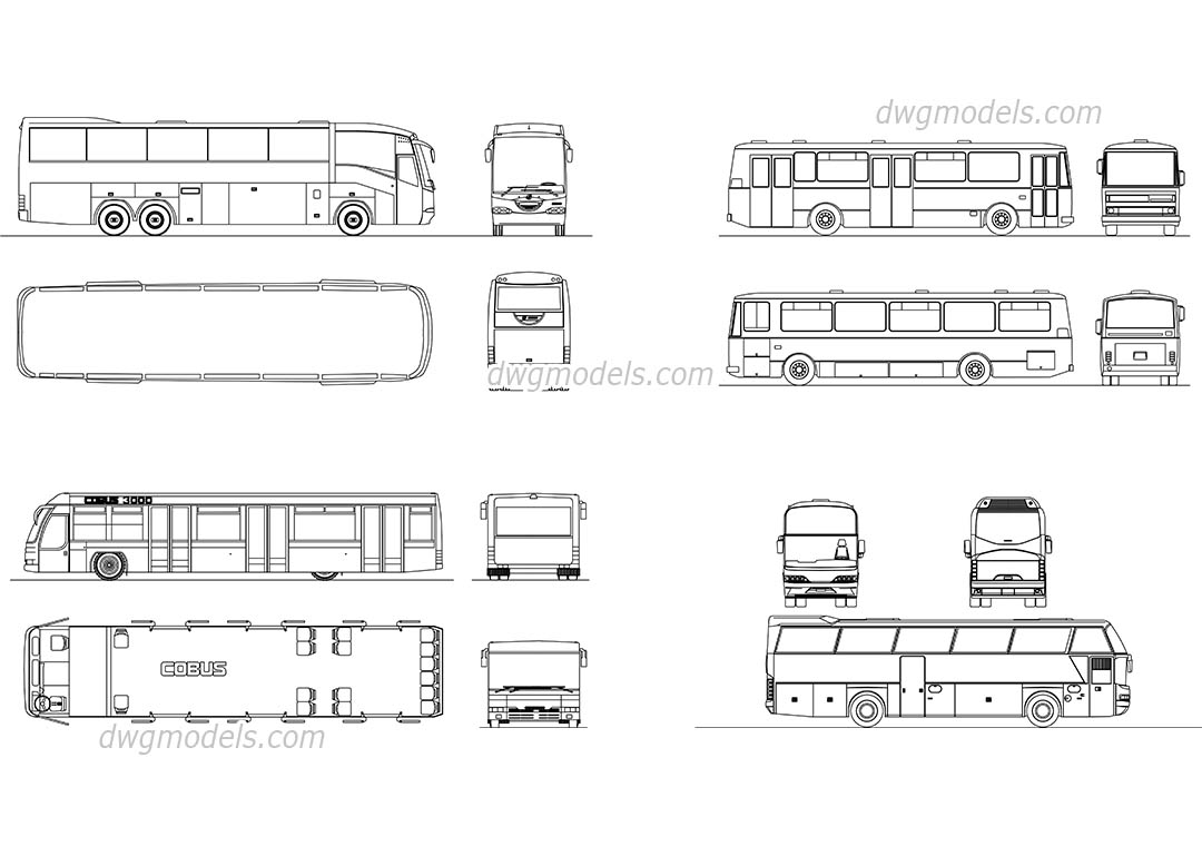Passenger coach dwg free cad blocks download for Online autocad drawing