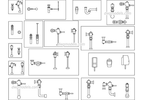 Plumbing equipment free dwg model
