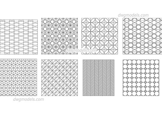 Geometrical pattern dwg, cad file download free