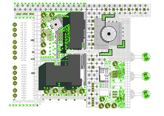Landscaping dwg models free download for Autocad landscape architecture