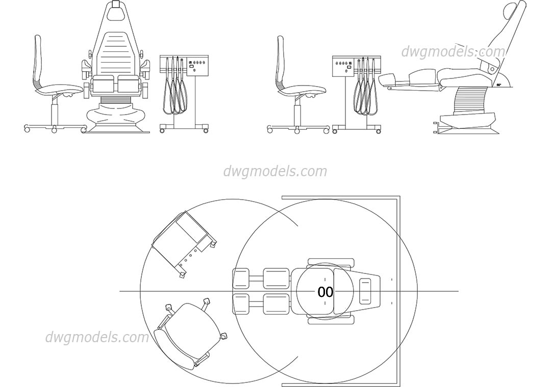 dentist chair dwg  free cad blocks download