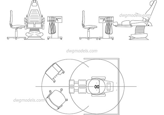 Dentist chair - DWG, CAD Block, drawing