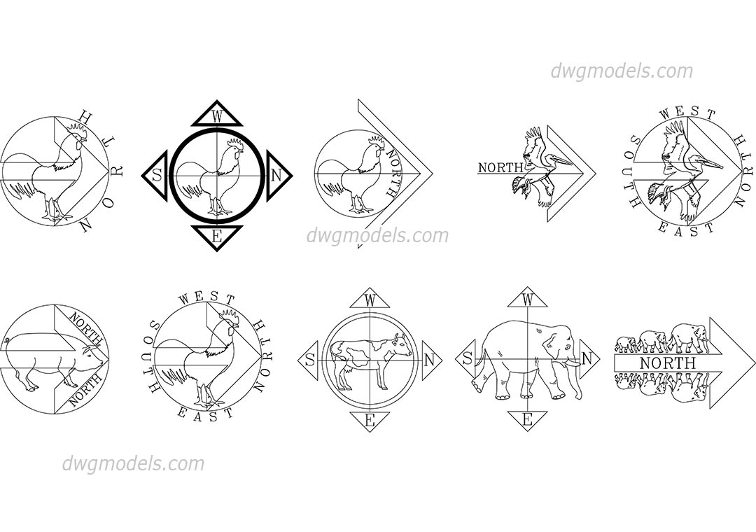 Graphic symbols dwg models free download page 2 cardinal direction dwg cad file download free biocorpaavc Image collections