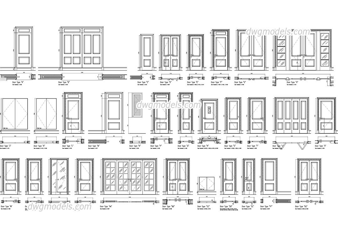 autocad 3d doors and windows blocks free download