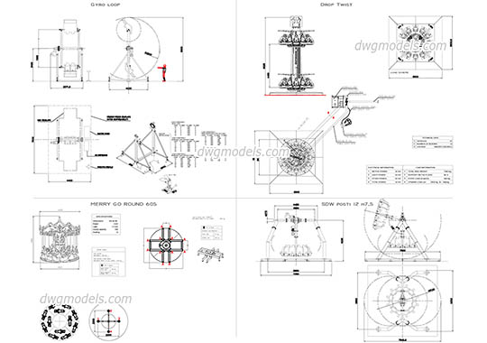 Attractions 2 - DWG, CAD Block, drawing
