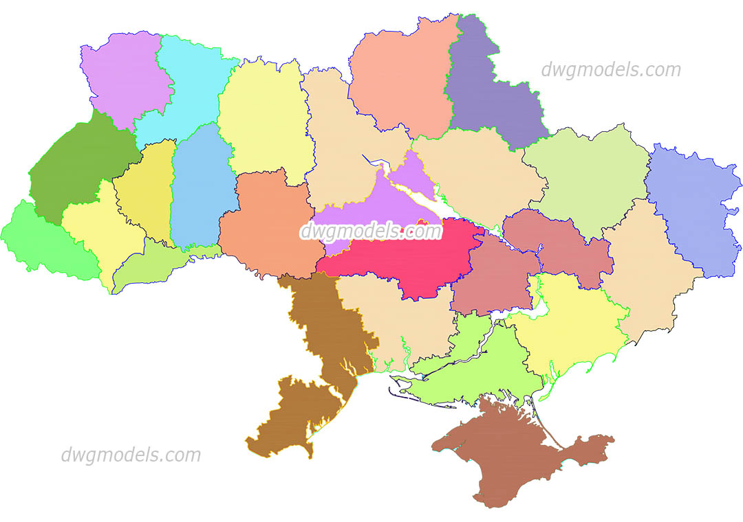 Ukraine 1 dwg, CAD Blocks, free download.