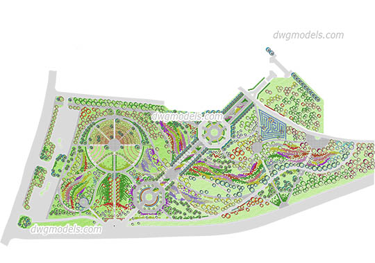 Landscaping of the Park free dwg model