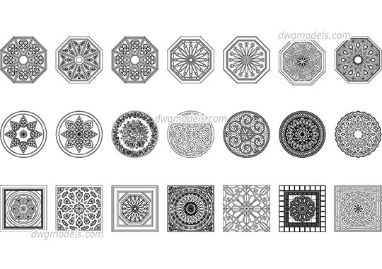 Arabic Pattern dwg, cad file download free