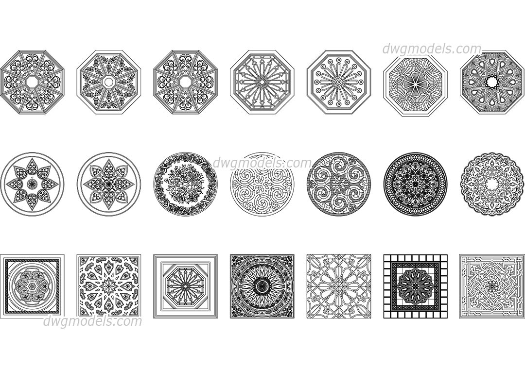 Arabic Pattern Dwg Free Cad Blocks Download
