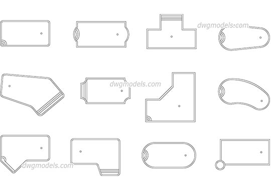 Small Pools dwg, cad file download free