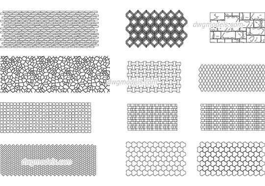 Seamless texture of stone dwg, cad file download free