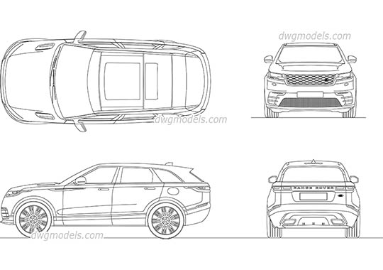 Range Rover Velar 2017 dwg, cad file download free