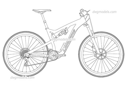 Mountain Bike Lapierre free dwg model