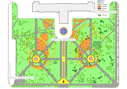 Landscaping 1 dwg, cad file download free