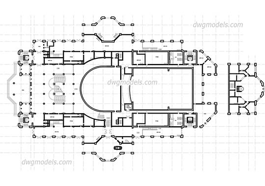 Theatre - DWG, CAD Block, drawing