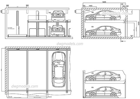 Parking 4 dwg, cad file download free
