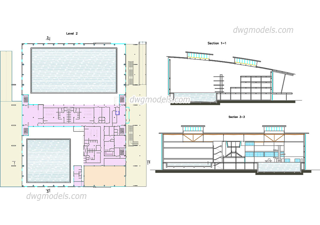 Swimming Pool 1 Dwg Free Cad Blocks Download
