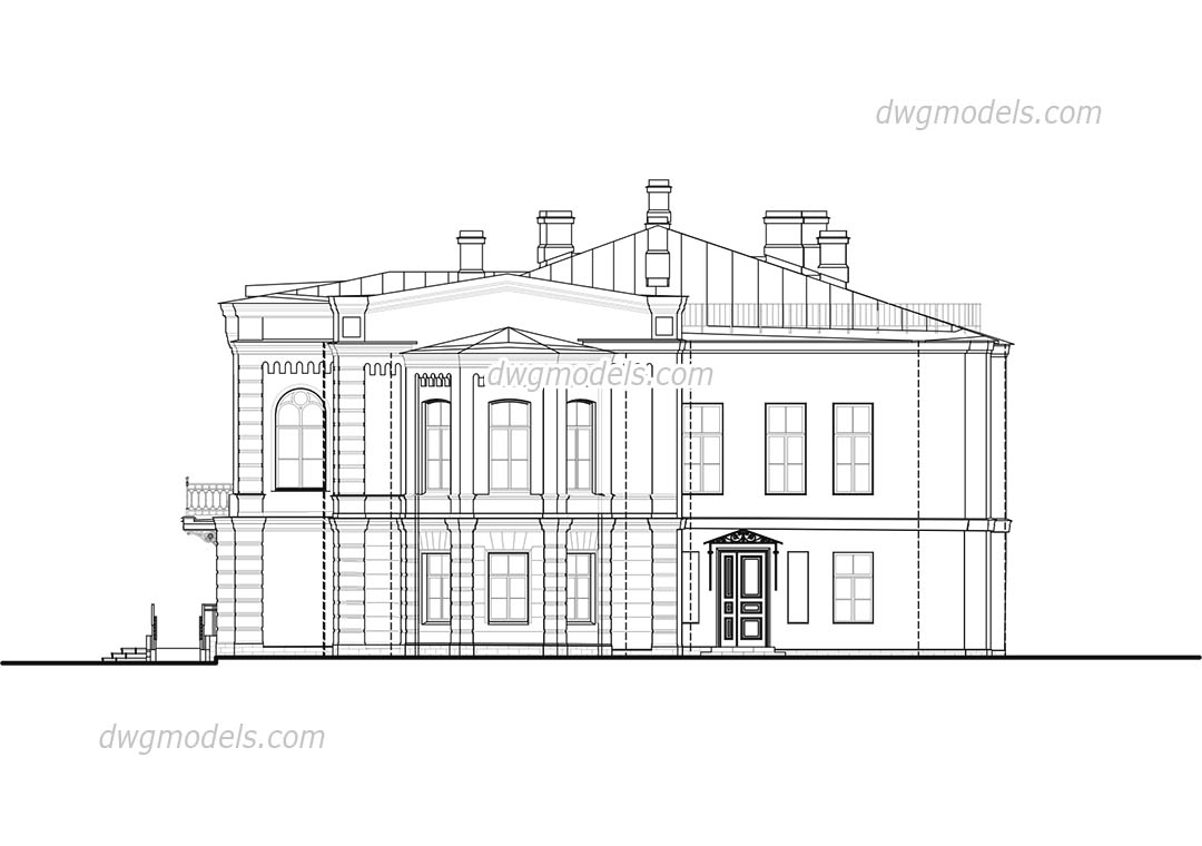 Villa in Tuscany dwg, CAD Blocks, free download.