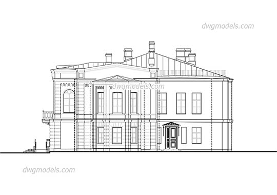 Villa in Tuscany dwg, cad file download free.