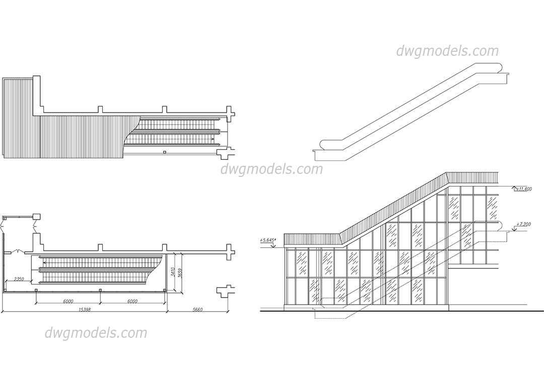 Escalator 1 Dwg, Cad File Download Free.