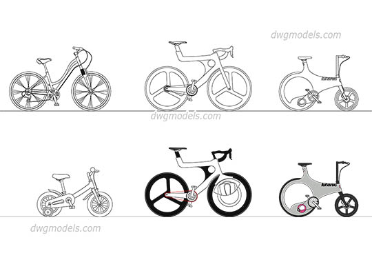 Urban Bike free dwg model