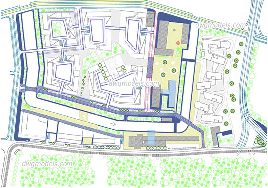 Urban Planning Design free dwg model