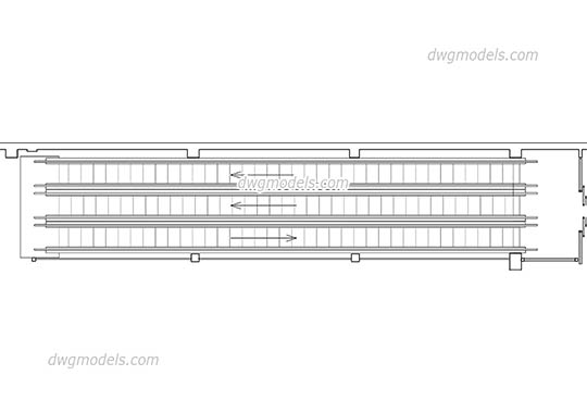 Travelator - DWG, CAD Block, drawing