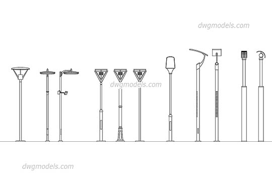 Street lighting 1 dwg, cad file download free