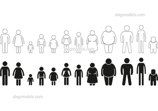 People Symbol free dwg model