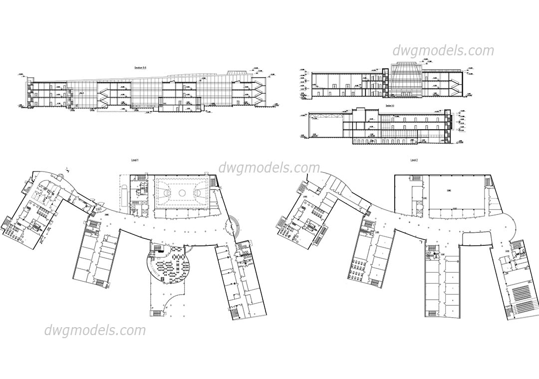 Classroom Furniture Cad ~ Kindergarten dwg free cad blocks download