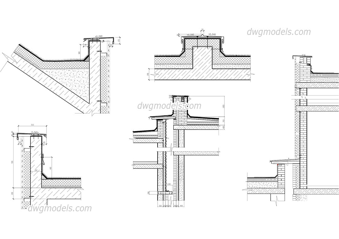 Parapet 1 dwg, CAD Blocks, free download.