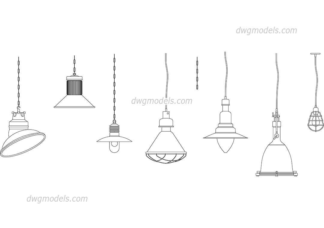 Wall Lamps Dwg : Light Fixture Cad Blocks - Light Fixtures