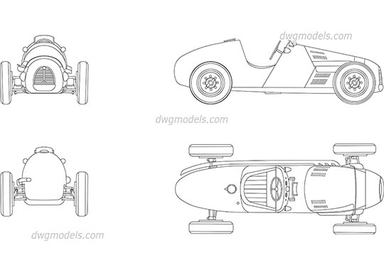 Gordini Type 16 - DWG, CAD Block, drawing