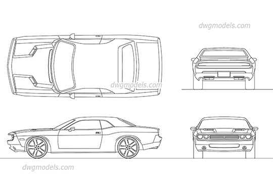 Dodge Challenger 2008 AutoCAD blocks