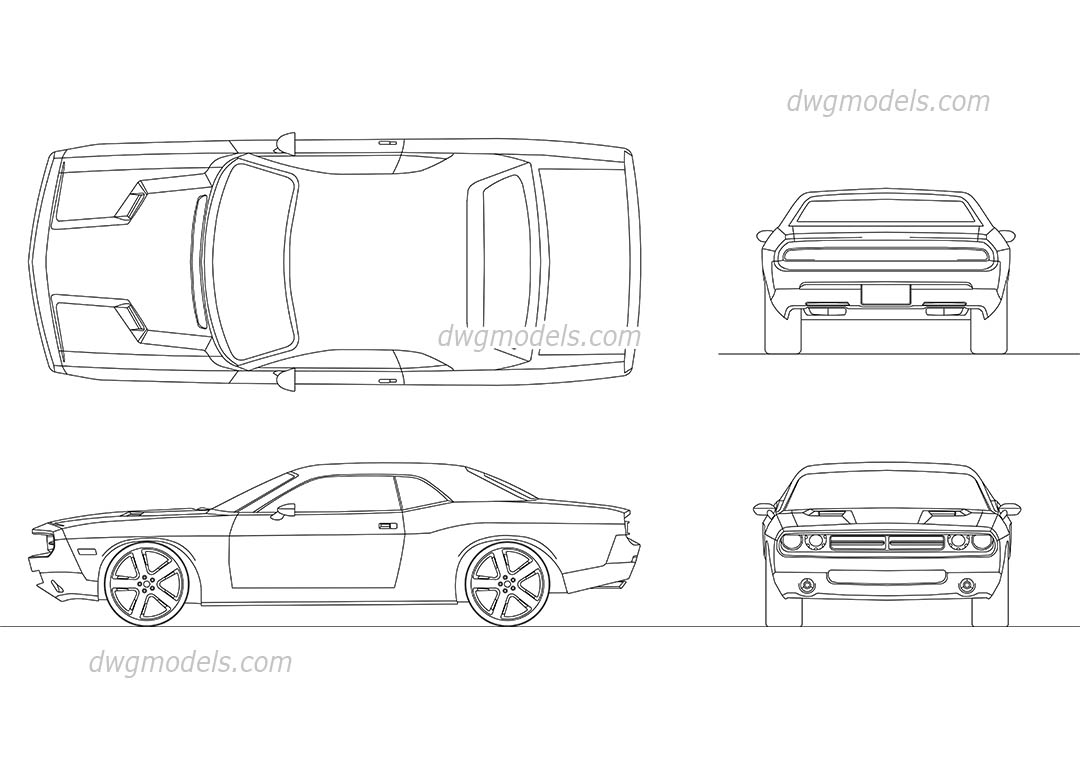 739 Dodge Challenger 2008 on muscle car drawings