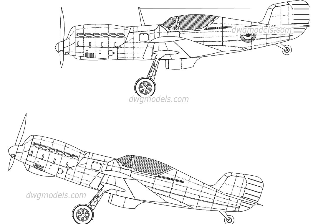 Fighter Aircraft dwg, CAD Blocks, free download.