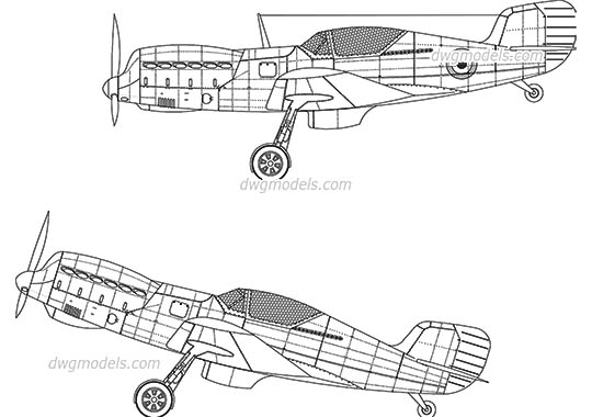 Fighter Aircraft - DWG, CAD Block, drawing