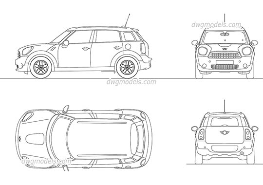 Mini Cooper Countryman AutoCAD blocks