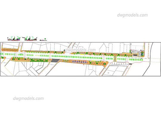 Section of the street 3 - DWG, CAD Block, drawing